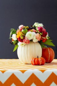 Thanksgiving Centerpieces - Pumpkin Vase-Raymond Hom